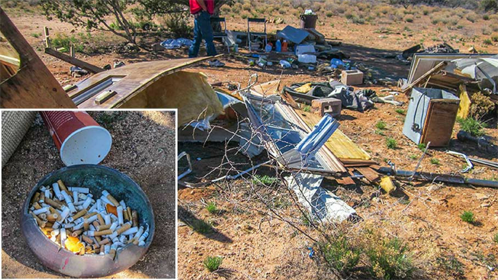 Campers left behind quite the mess. (Source: Prescott National Forest)