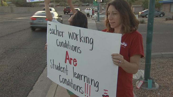 Arizona Educators United has called on Gov. Doug Ducey to approve 20 percent pay raises for teachers. (Source: 3TV/CBS 5)
