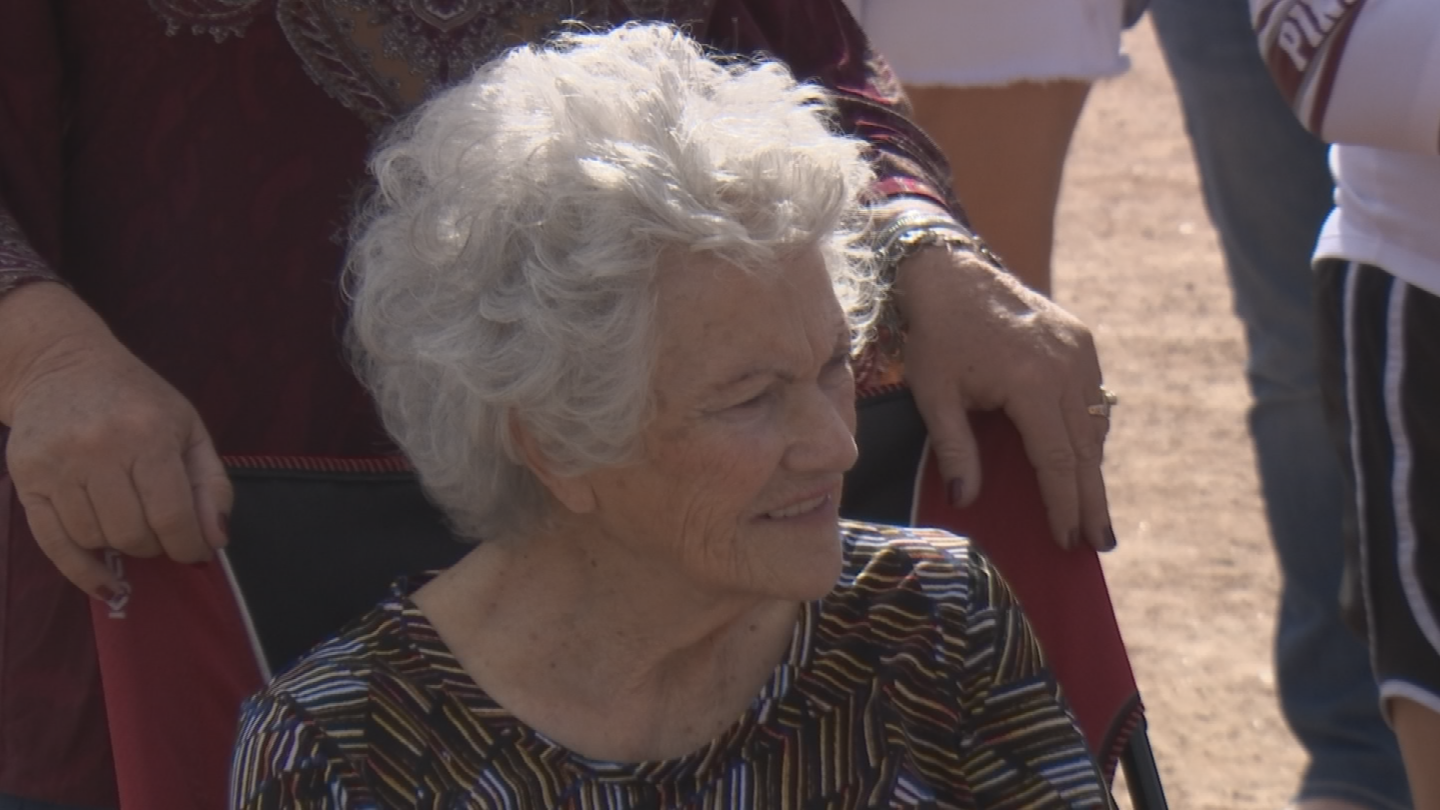 One of her greatest loves is visiting with her grandmother Lou at her nursing home in Mesa. (Source: 3TV/CBS 5)