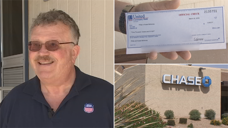 Phil McKenna got his $1,000 returned back to him after problem with a money transfer. (Source: 3TV)