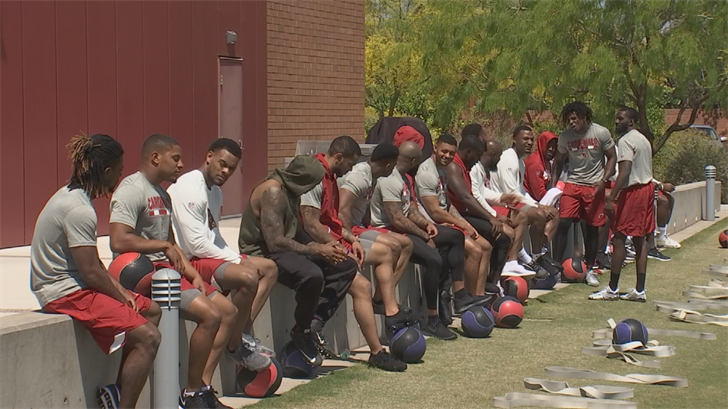 Wilks has talked about holding some outdoor practices in training camp, a bit of a challenge considering the scorching desert heat of late July and August. (Source: 3TV/CBS 5)