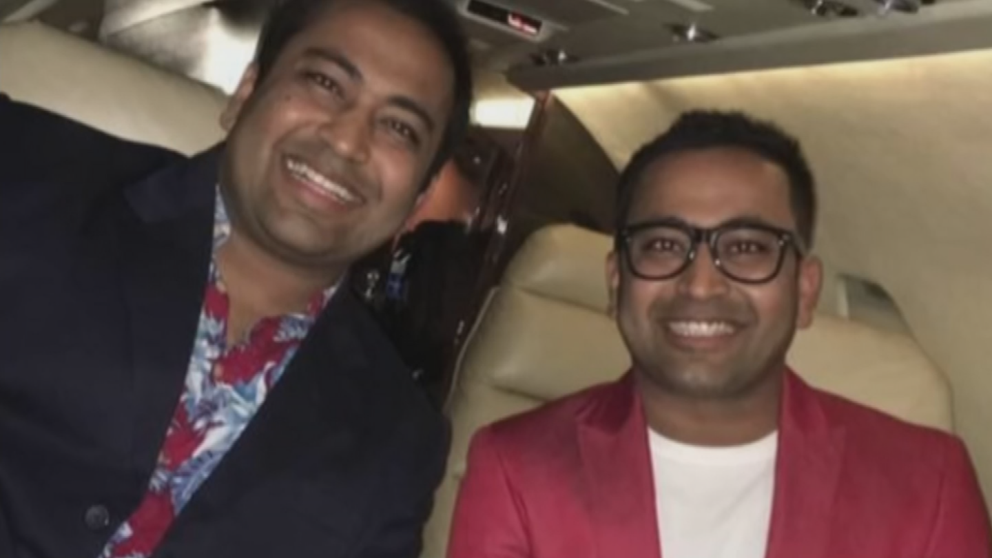 Anand Patel with his twin brother Akash Patel. (Source: Akash Patel)
