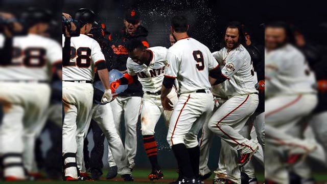 The San Francisco Giants beat the Arizona Diamondbacks 5-4 on Tuesday night. (Source: AP Photo)