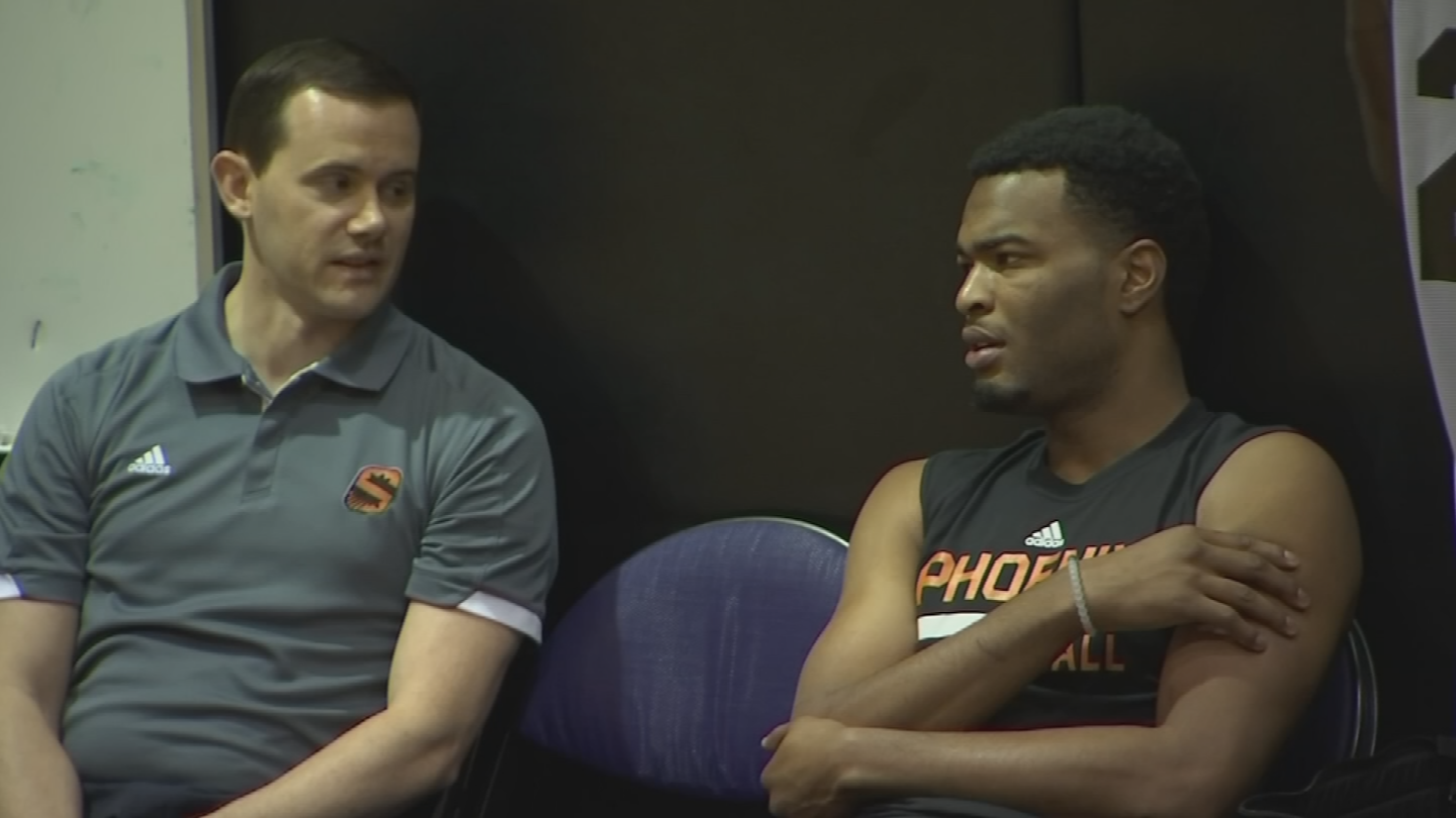 General manager Ryan McDonough, left, agrees the time is come to ratchet up investment. (Source: 3TV/CBS 5)