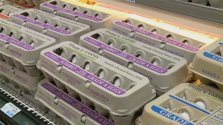 Shoppers in Arizona can soon buy certain types of eggs that are stamped with a longer shelf life. (Source: 3TV/CBS 5)