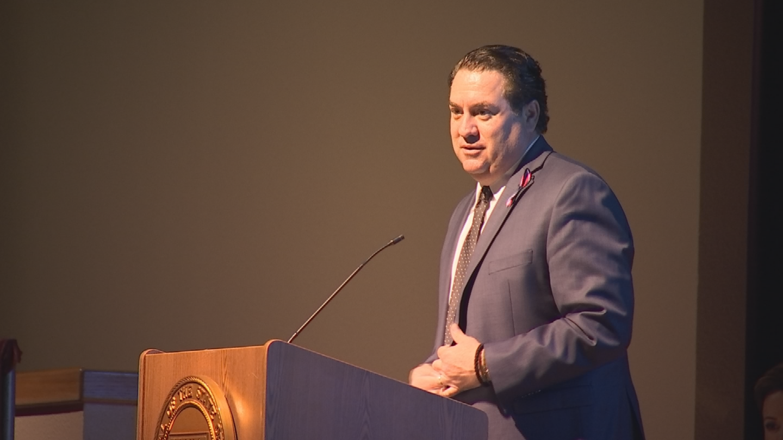 Arizona Attorney General Mark Brnovich speaks at the 2018 National Crime Victims' Week presentation. (Source: 3TV/CBS 5)