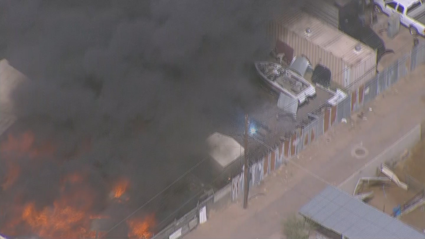 Sparks could be seen from the power pole. (Source: 3TV/CBS 5)