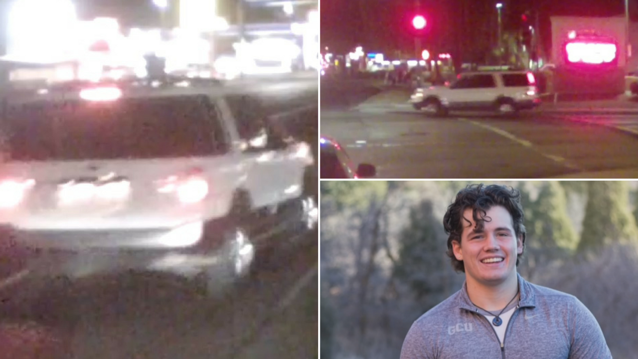 Police released video of the suspect's vehicle who hit and killed Taylor White, bottom right, officers said. (Source: 3TV/CBS 5)