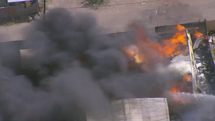 Harold's Transmissions near 15th Avenue and Broadway Road had called Arizona home and been in business for more than 40 years. A week ago, wind-whipped flames burned it all to the ground. (Source: 3TV/CBS 5)