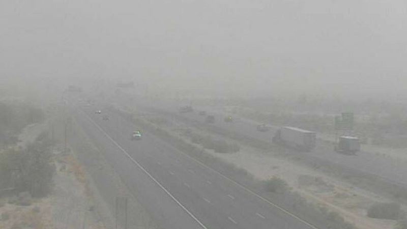 It isn't quite the monsoon season but that doesn't mean we won't see nasty dust storms in Arizona. (Source: ADOT)