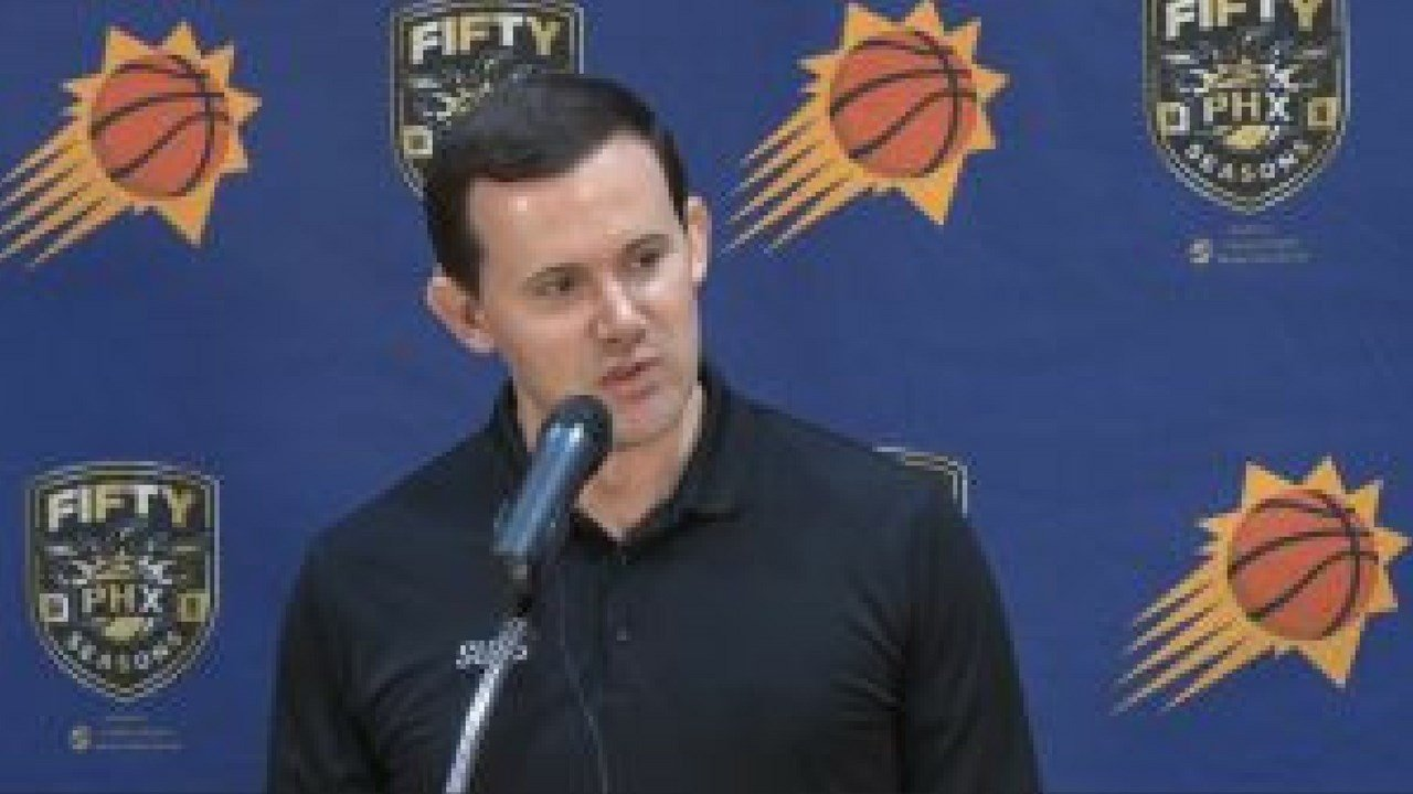 Suns general manager Ryan McDonough said a coaching search will begin right away. (Photo by Robert Gundran/Cronkite News)