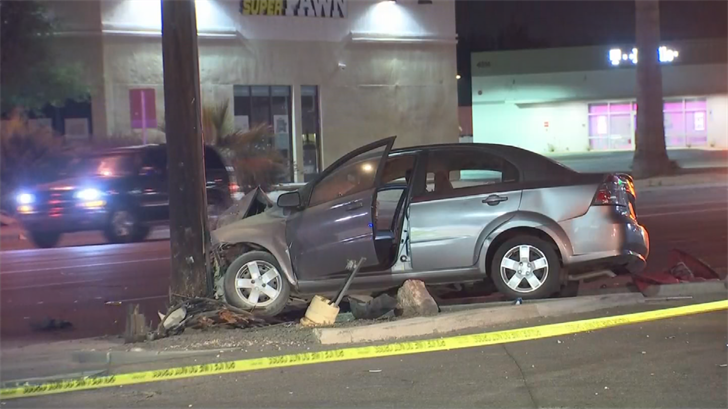 The driver of the car suffered minor injuries. (Source: 3TV/CBS 5)
