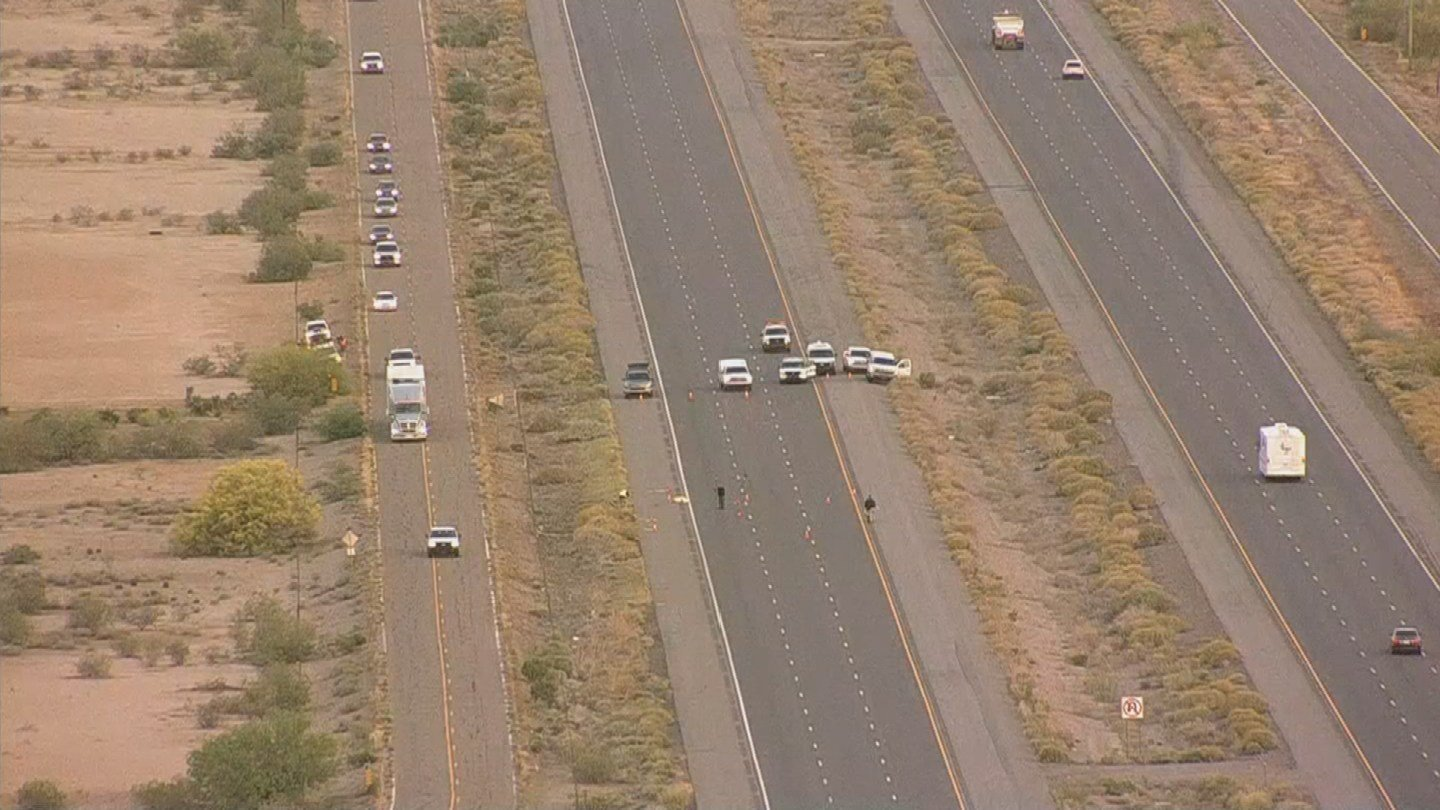 The Arizona Department of Public Safety is investigating after a woman was found dead on the right shoulder of eastbound Interstate 10 southeast of Eloy. (Source: 3TV/CBS 5)