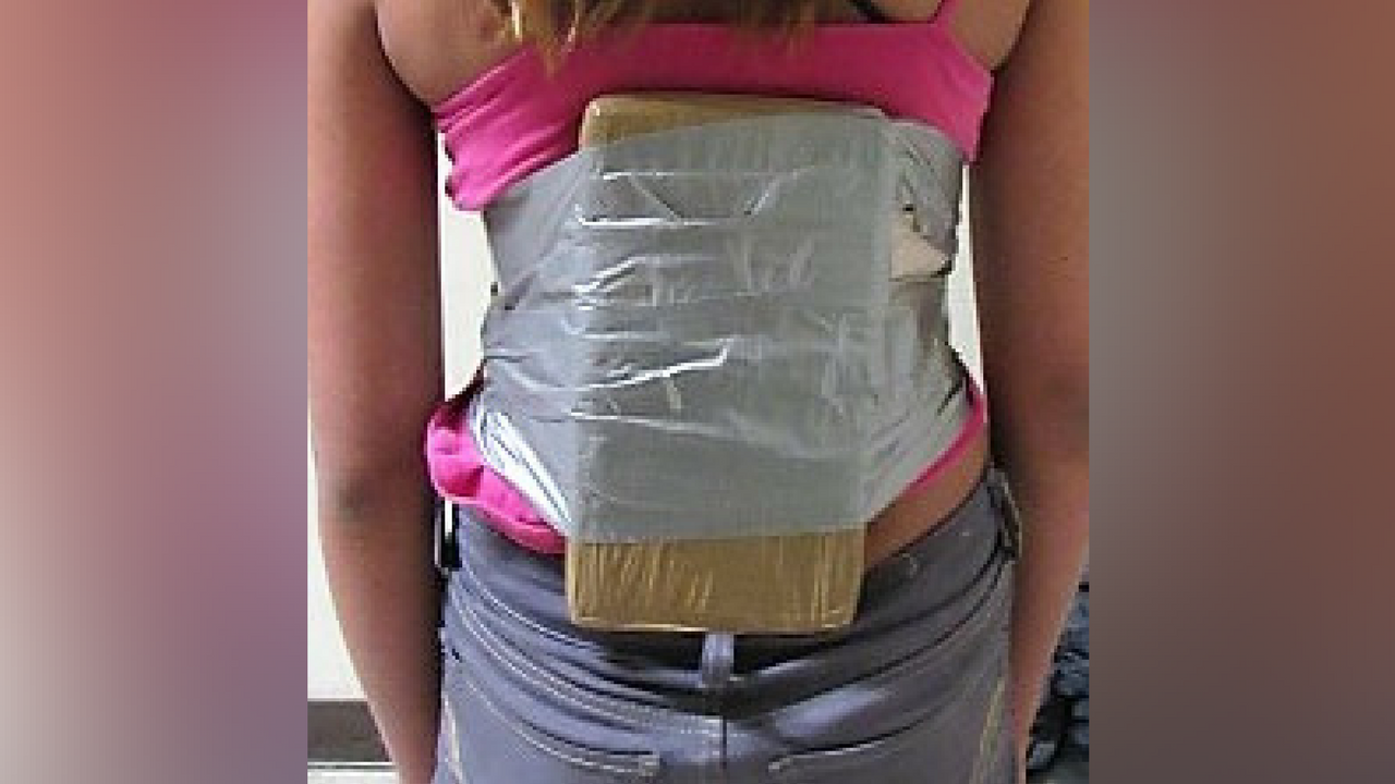 A 12-year-old girl was found with 2 pounds of cocaine strapped to her. (Source: U.S. Customs and Border Protection)