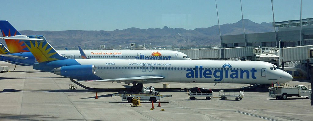 File photo of an Allegiant MD-80 at McCarran International Airport in Las Vegas (Source: Frank Kovalchek via Wikimedia Commons)