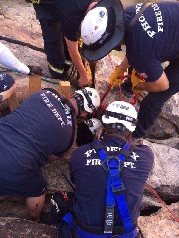 No firefighters were hurt. (Source: Phoenix Fire Department)