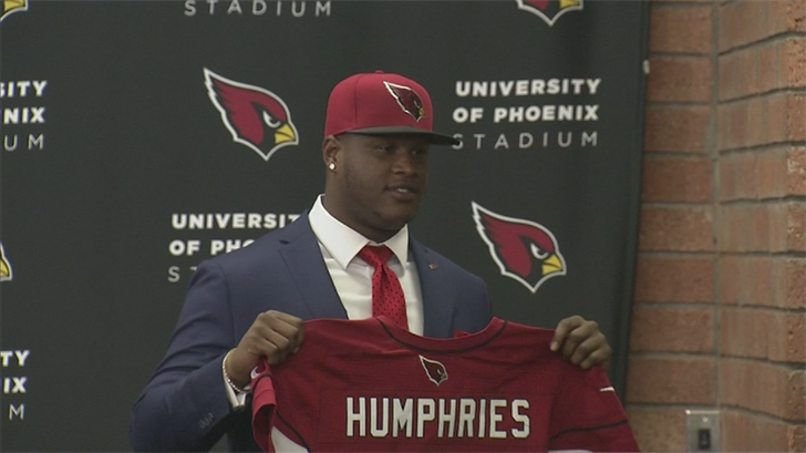 Humphries was the Cardinals' first-round draft pick in 20145, 24th overall. (Source: 3TV/CBS 5)
