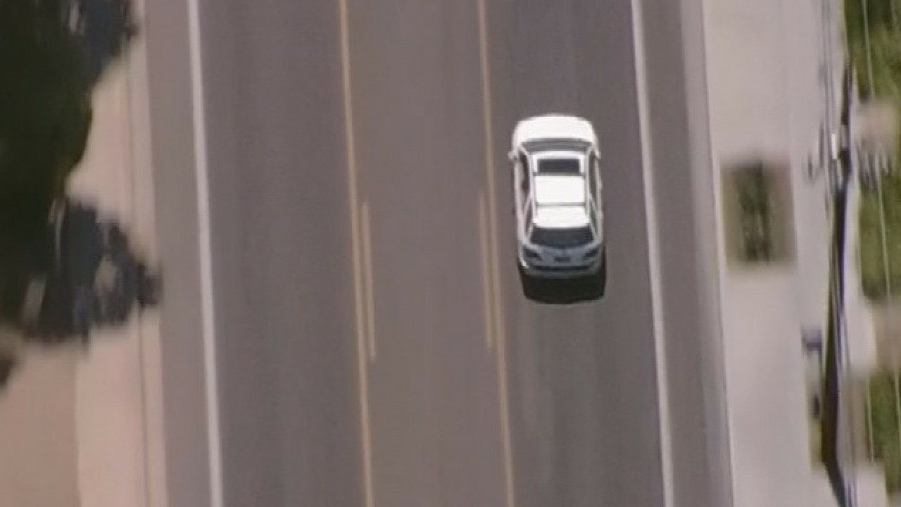 Our chopper followed the pursuit suspect as he sped through the streets of Phoenix (Source: 3TV/CBS 5)