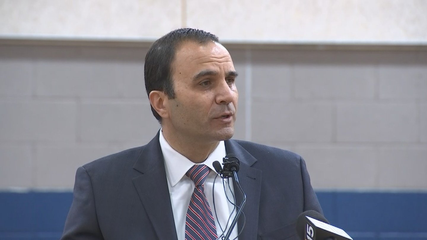 Sheriff Paul Penzone spoke at Tuesday's ceremony (Source: 3TV/CBS 5)