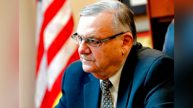 FILE - In this Jan. 10, 2018, file photo, former Maricopa County Sheriff and U.S. Senate candidate Joe Arpaio speaks at his office in Fountain Hills, Ariz. (Source: AP Photo/Matt York, File)
