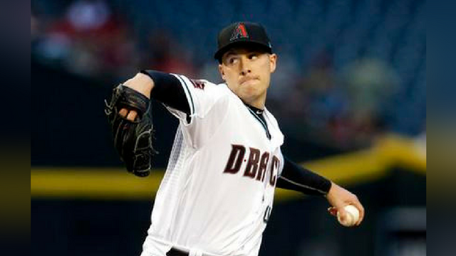 Arizona Diamondbacks pitcher Patrick Corbin throws in the first inning during a baseball game against the San Francisco Giants, Tuesday, April 17, 2018, in Phoenix. (Source: AP Photo/Rick Scuteri)