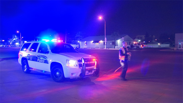 McDowell Road was closed in both directions while police investigated the hit-and-run crash. (Source: 3TV/CBS 5)