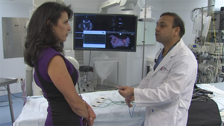 Doctor Akash Makkar is one of only two doctors in the state doing AFib ablation without exposing the patients, doctor, or staff to any radiation. (Source: 3TV/CBS 5)