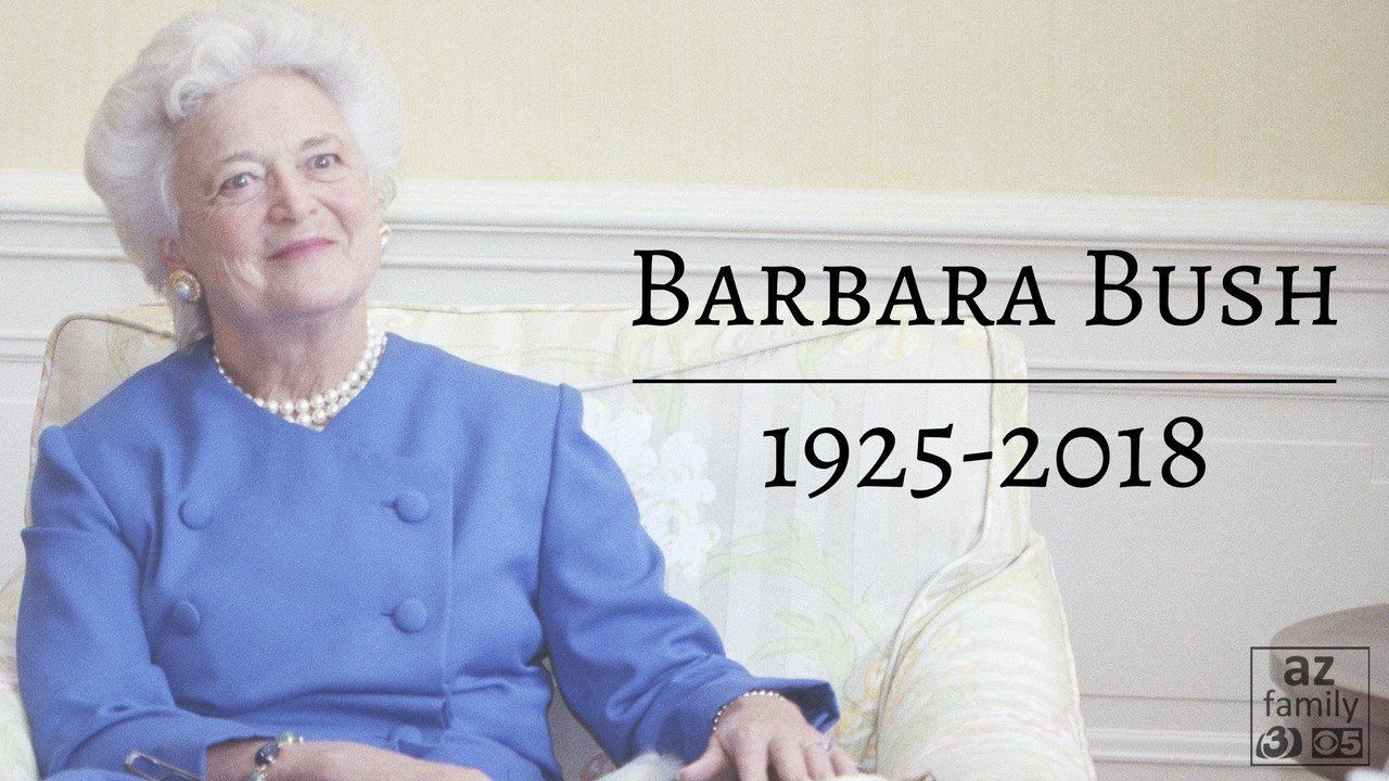 Barbara Bush's noble life of purpose
