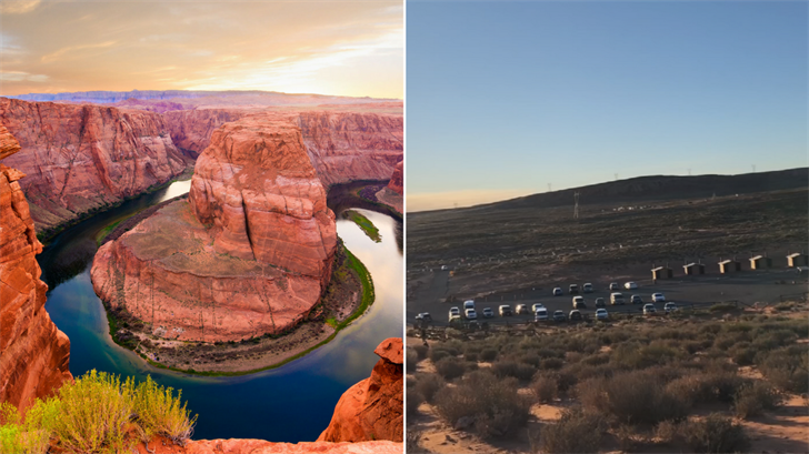 Horseshoe Bend sees thousands of visitors but there isn't a lot of parking. (Source: 3TV/CBS 5/diro / 123RF Stock Photo)
