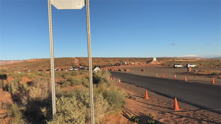 In order to get to Horseshoe Bend, visitors have to park in a small lot, but once it's full, people park along the highway. (Source: 3TV/CBS 5)