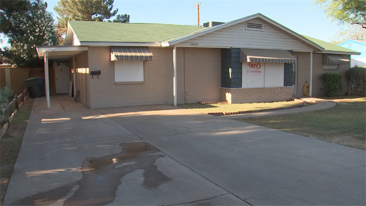 The Dolls' home suffered significant damage due to the manhunt for a carjacking suspect. (Source: 3TV/CBS 5)
