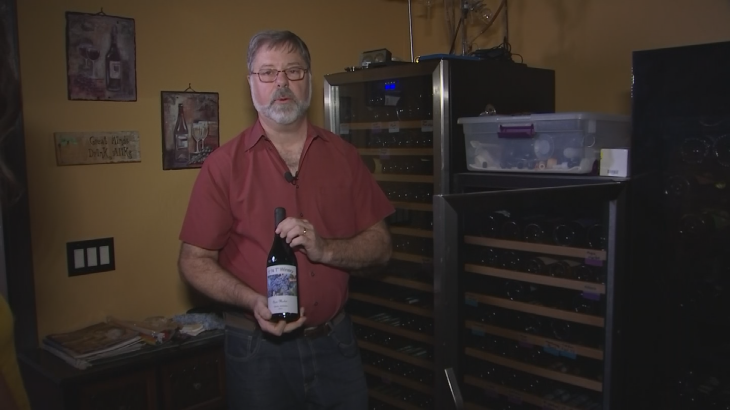 Mesa resident Tom Messier makes wine out of his home. (Source: 3TV/CBS 5)