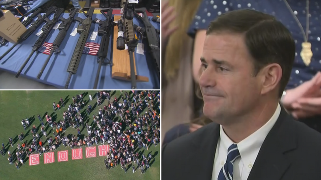 An Arizona Senate committee is set to hold the long-delayed first hearing on Arizona Gov. Doug Ducey's wide-ranging school safety proposal. (Source: 3TV/CBS 5)