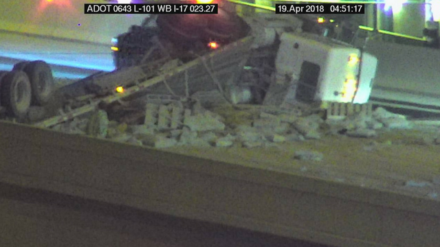 Northbound and southbound I-17 ramps are closed to eastbound Loop 101. (Source: Arizona Department of Transportation)