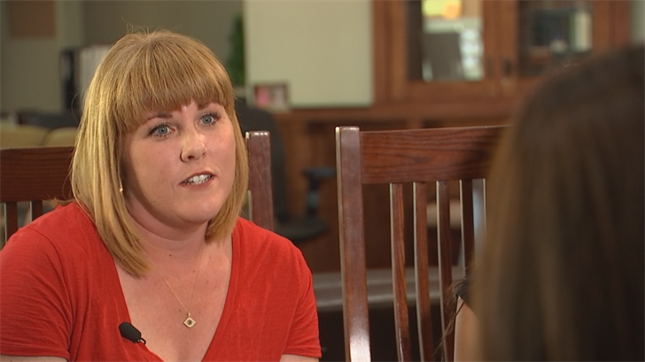 Third grade teacher Molly Bligh can't count on state leaders to fix this.  A single mom with two boys, grading papers during dinner is her normal. (Source: 3TV/CBS 5)