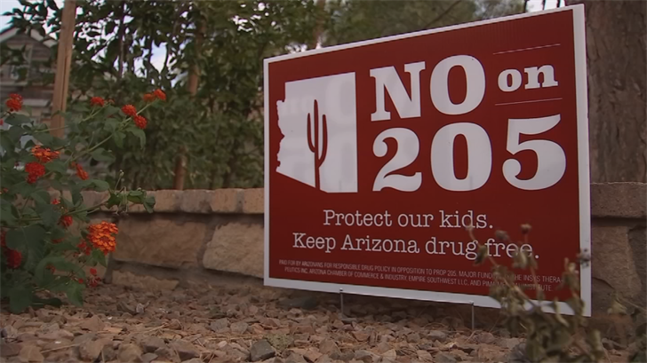 In 2016, Arizona voters narrowly rejected Prop 205, which would have allowed adult use. (Source: 3TV/CBS 5)