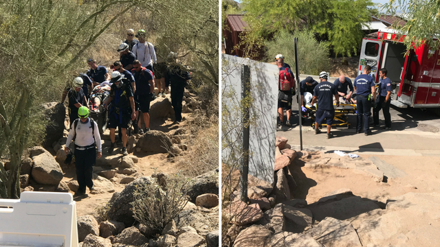 Fire crews rescued a man who had suffered from heat exhaustion. (Source: Phoenix Fire Department)