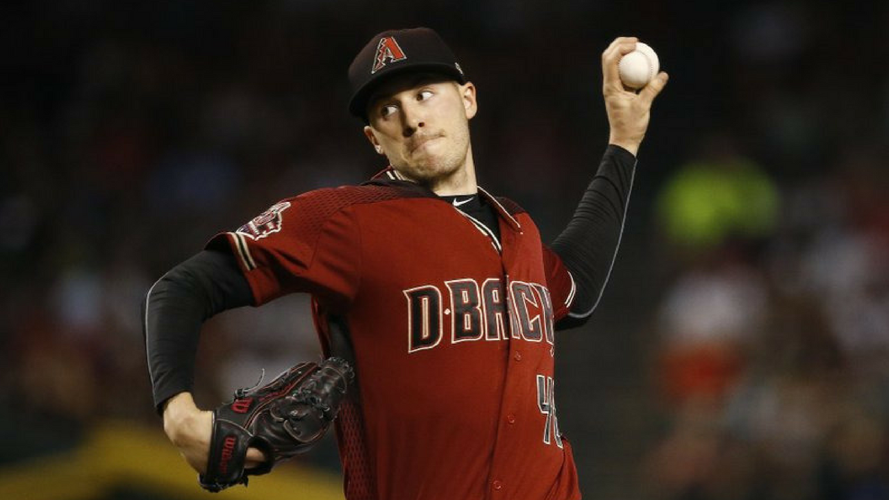 Arizona Diamondbacks starting pitcher Patrick Corbin throws against the San Diego Padres during the first inning of a baseball game Sunday, April 22, 2018, in Phoenix. (Source: AP Photo/Ross D. Franklin)