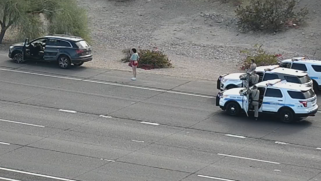 She continued east into the Phoenix area, where DPS said they used spike strips twice. (Source: ADOT)