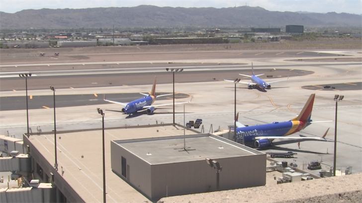 Dozens of Southwest flights were delayed because of safety inspections. (Source: 3TV/CBS 5)