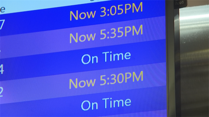 There were more than 60 delays at Sky Harbor. (Source: 3TV/CBS 5)