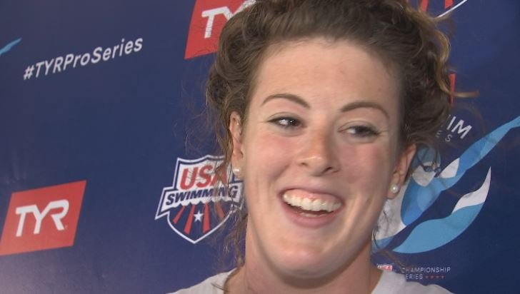 Four-time Olympic gold medalist Allison Schmitt is making a comeback at ASU. (Source: 3TV/CBS 5)