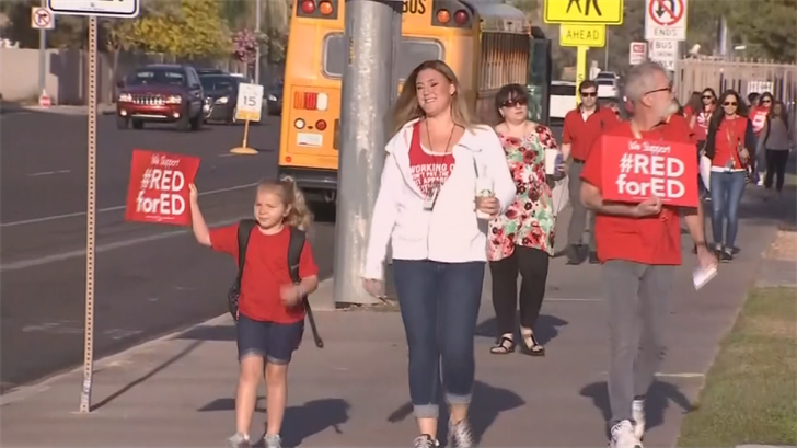 Teachers argued the plan did not meet their demands for a dedicated funding source and increases for support staff. (Source: 3TV/CBS 5)