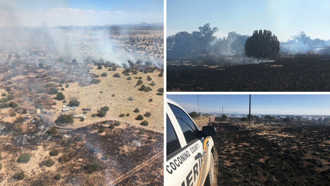 A wildfire burning north of Flagstaff has grown to 100 acres. (Source: 3TV/CBS 5 News)