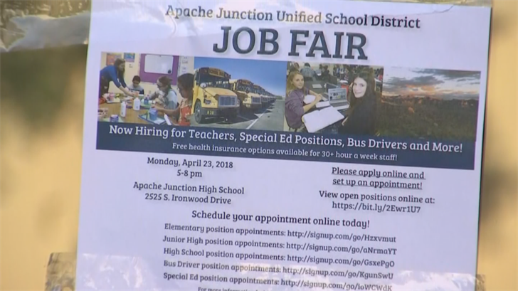 Starting salary at Apache Junction Unified School District is about $34,000. (Source: 3TV/CBS 5)