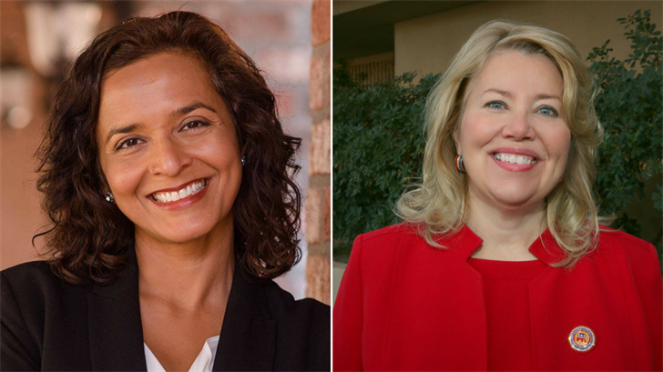 Hiral Tipirneni, left, and Debbie Lesko, right. (Source: 3TV/CBS 5)