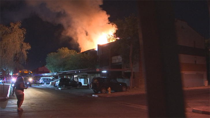 Firefighters battled two first-alarm fires at a Phoenix apartment complex within 24 hours. (Source: 3TV/CBS 5)