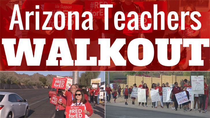 On Thursday, April 19, educators held a strike vote which resulted in the Arizona Education Association and the Arizona Educators United to announce that teachers will walk off the job on April 26. (Source: 3TV/CBS 5)