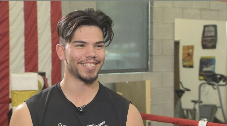 "Boxer Adolfo ""the Outlaw"" Ramos is usually sporting a smile. (Source: 3TV/CBS 5)"
