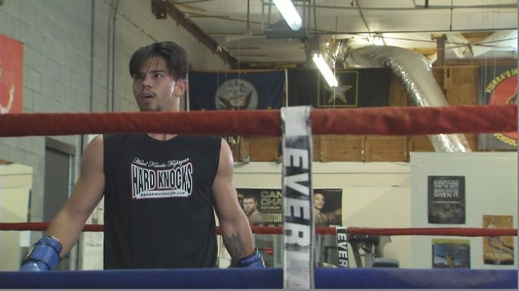 """Adolfo """"the Outlaw"""" Ramos makes his professional boxing debut on Saturday April 28th vs Lenny Correra. (Source: 3TV/CBS 5)"""